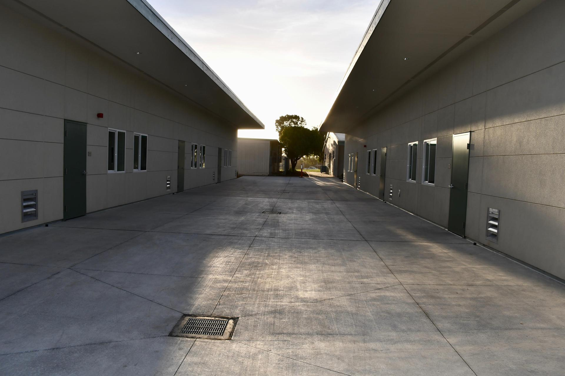 Row of new classrooms