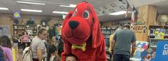 Clifford the Big Red Dog visited for Family Night