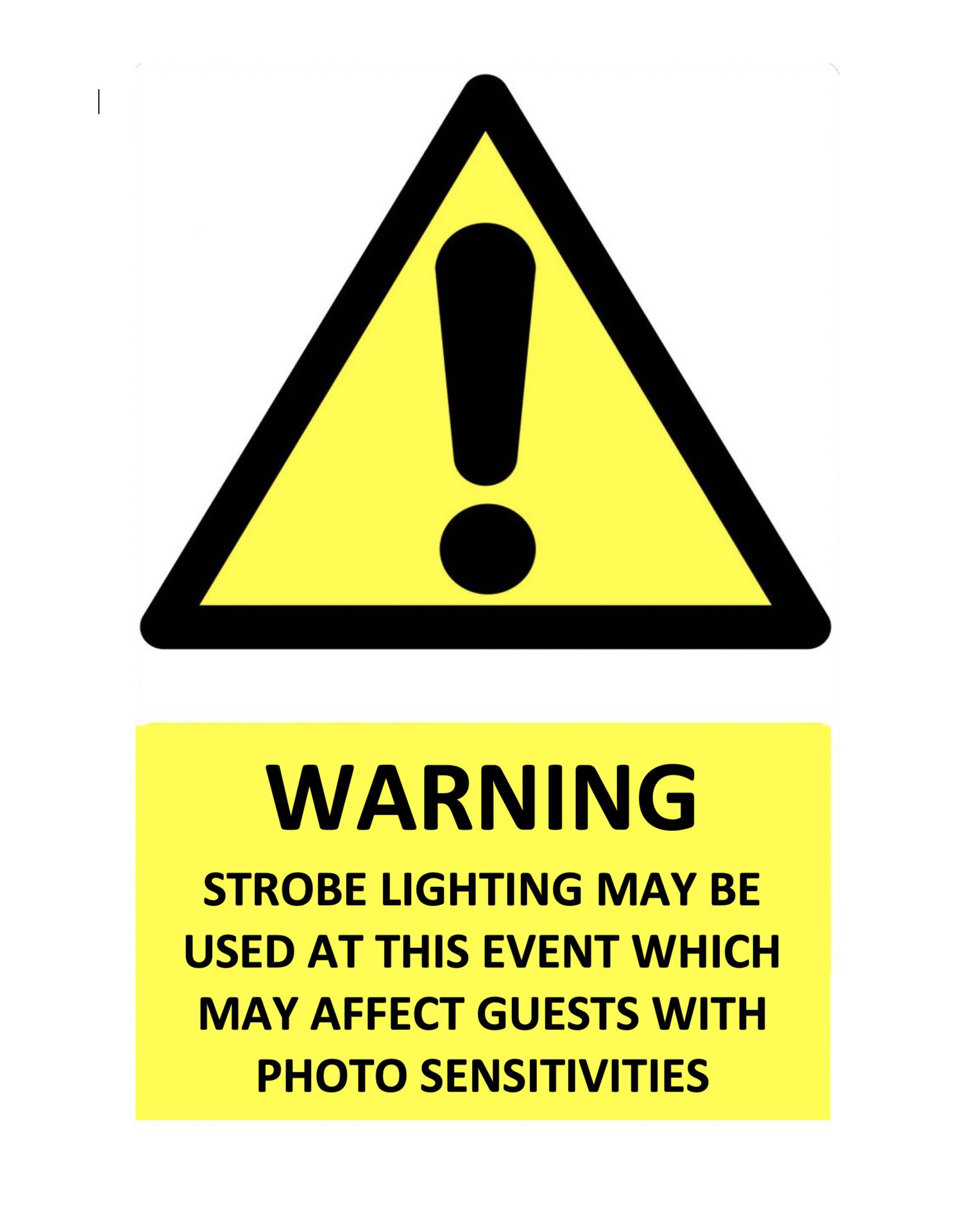 strobe warning