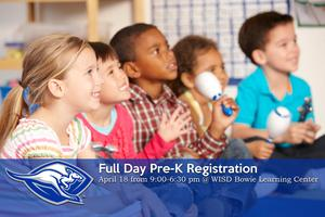 Registration for Full-Day Pre-Kindergarten | Thursday, April 18 from 9:00 am - 6:30 pm | Bowie Learning Center