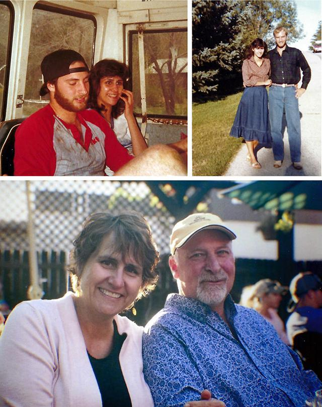 Donna (Coley) and Duane Byrd `82 in high school and today.