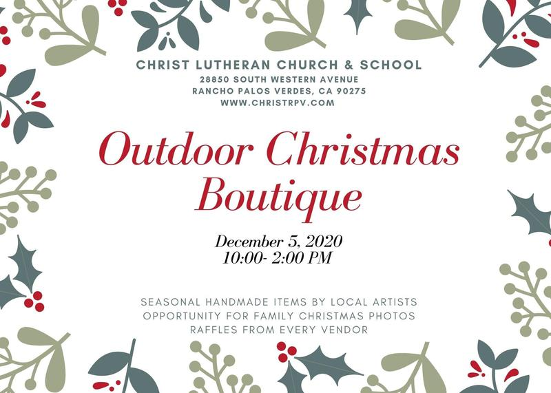 Outdoor Christmas Boutique- December 5th from 10-2 Featured Photo