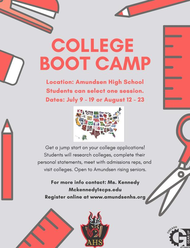 Get a Jump on the Application Process this Summer at College Boot Camp! (Click here) Featured Photo