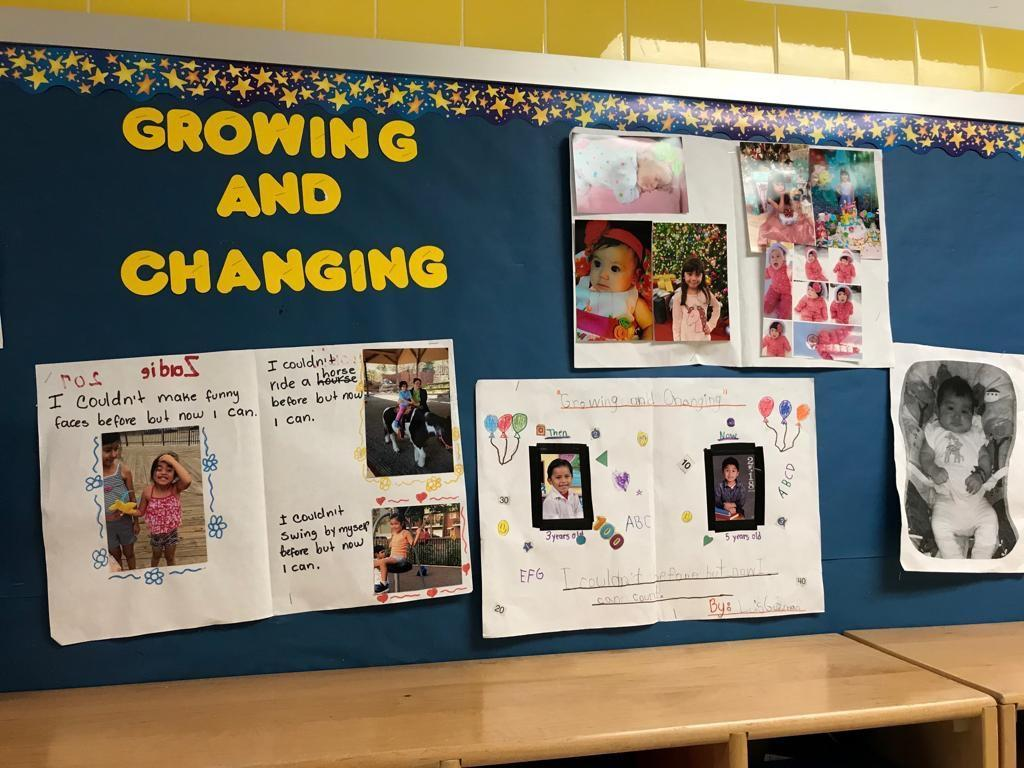 100 days of growing and changing activity display