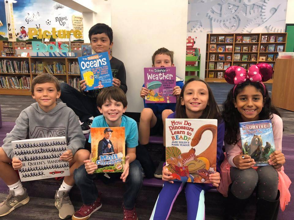 We love getting new books in our library