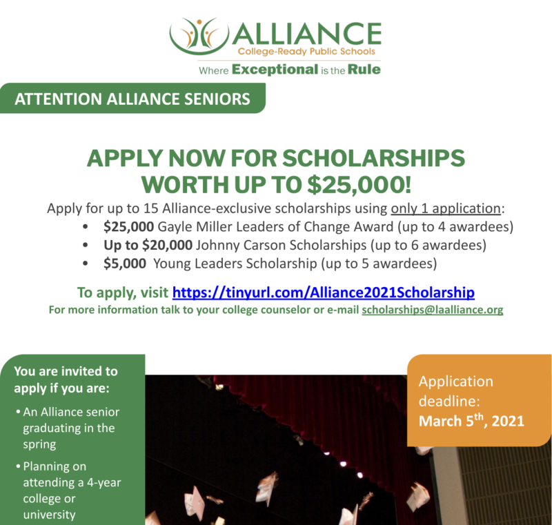 APPLY NOW FOR SCHOLARSHIPS  WORTH UP TO $25,000! Thumbnail Image