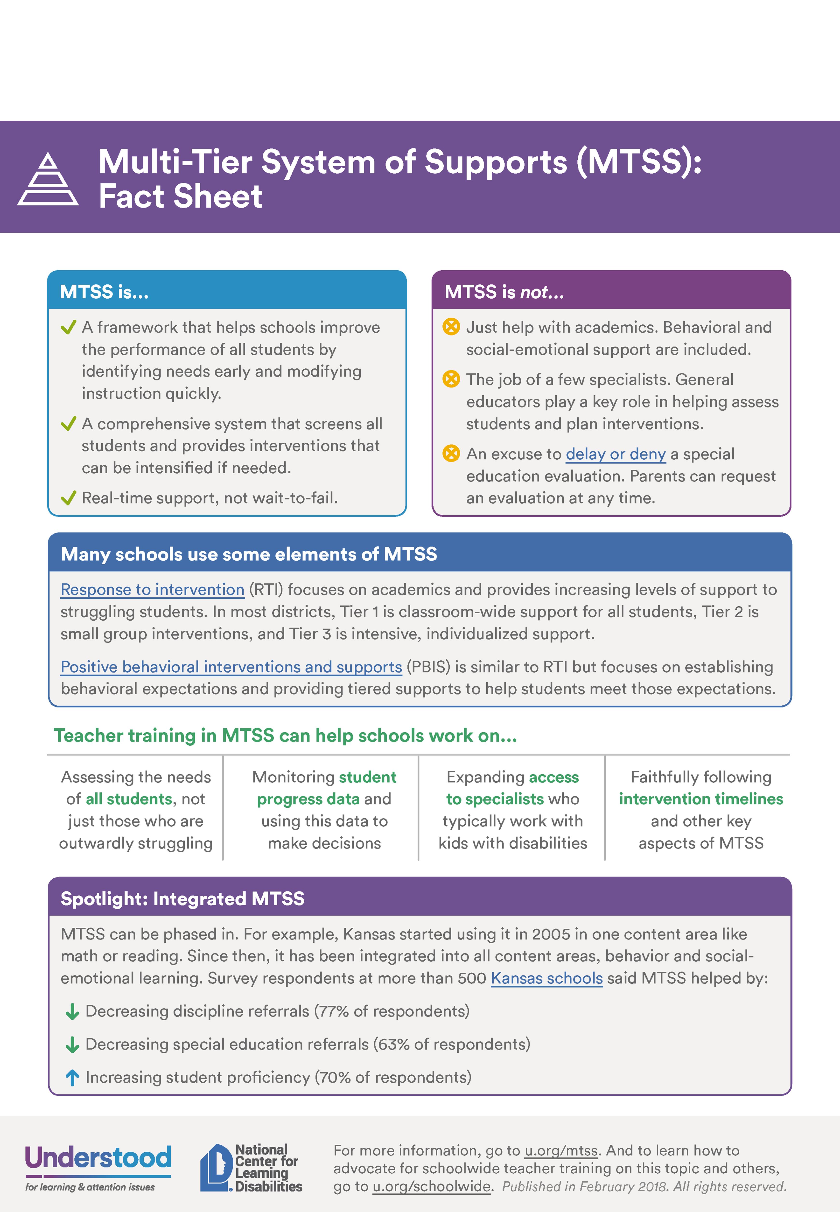 MTSS Fact Sheet