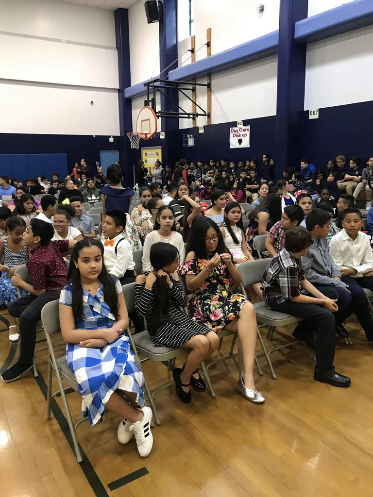 students sitting in the audience