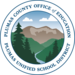This is an image of the PUSD logo- mountains in a circle.