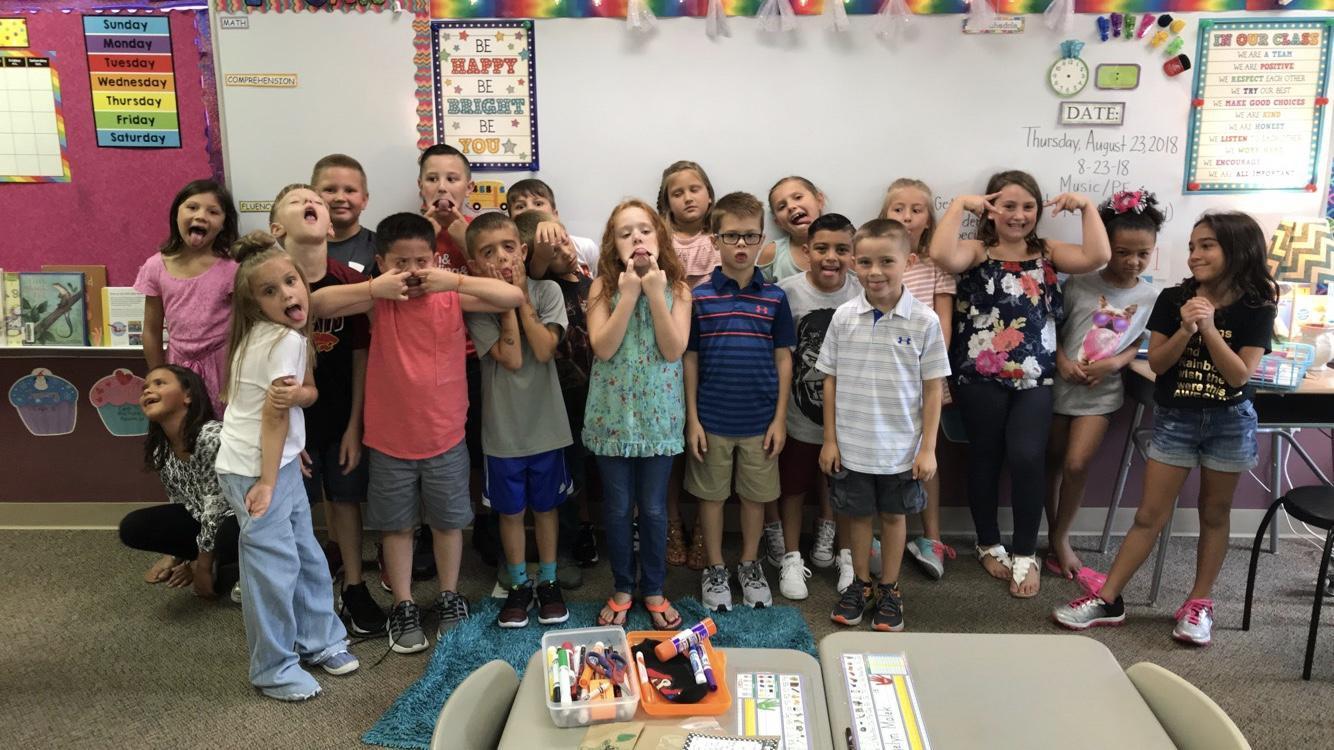 Having fun in 2nd Grade!