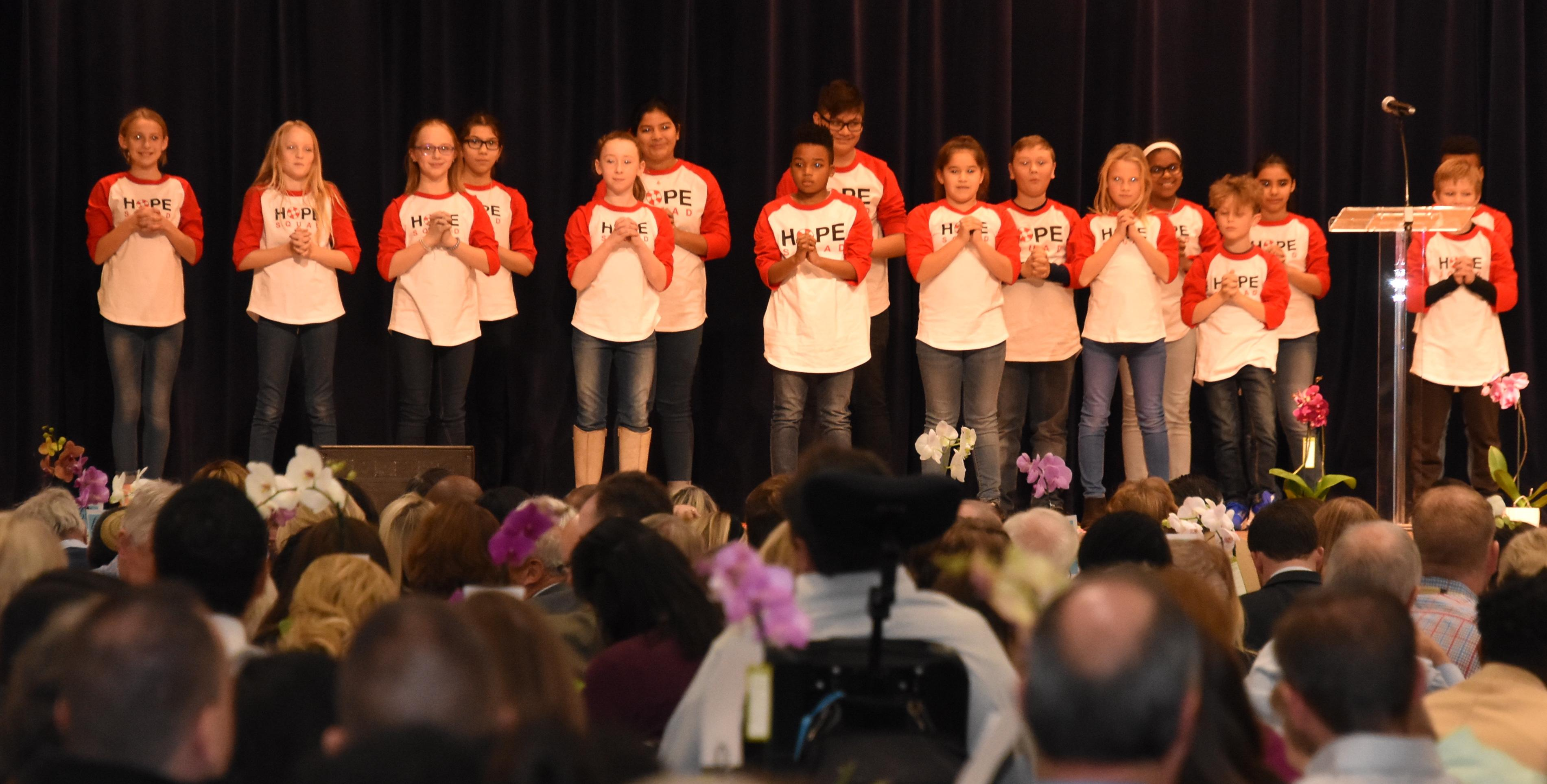 Fine Arts Academy, North Elementary and several Tannahill Intermediate HOPE Squad members performed for 1,300 people at the Jordan Elizabeth Harris Foundation's annual Bring the Conversation to Light Luncheon.