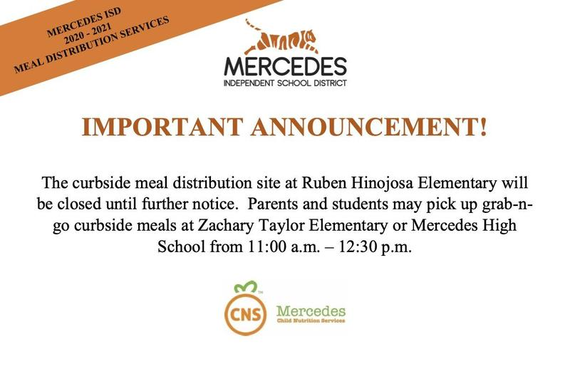 Ruben Hinojosa Elementary meal distribution site is closed until further notice Featured Photo