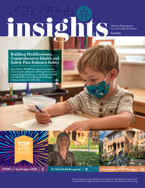 cover page of the Insights Newsletter with a table of contents of the stories inside