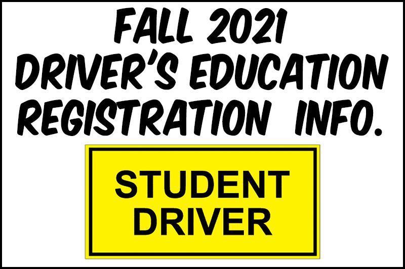 Driver's Education Registration Thumbnail Image