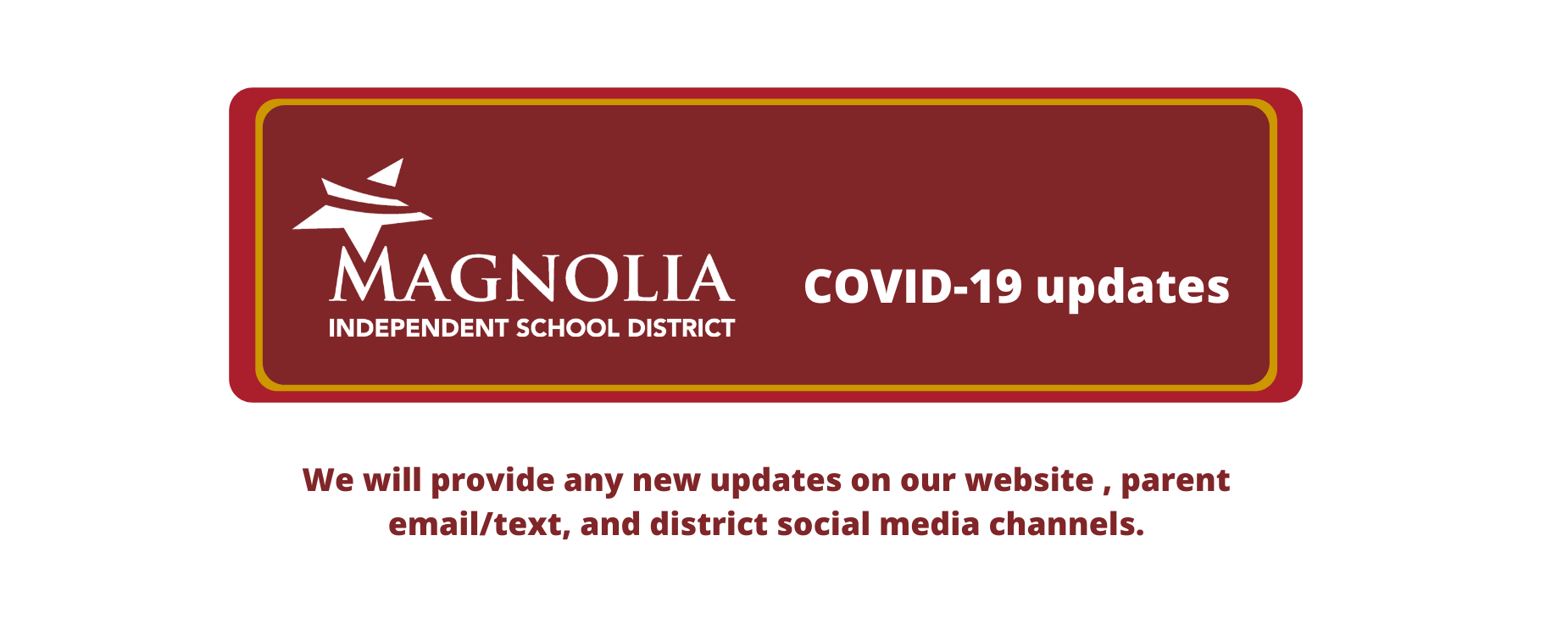 Click on this photo for latest district information about COVID-19