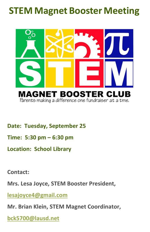 STEM Magnet Booster Club Meeting Featured Photo