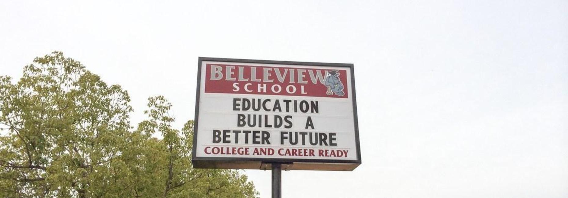 Belleview sign