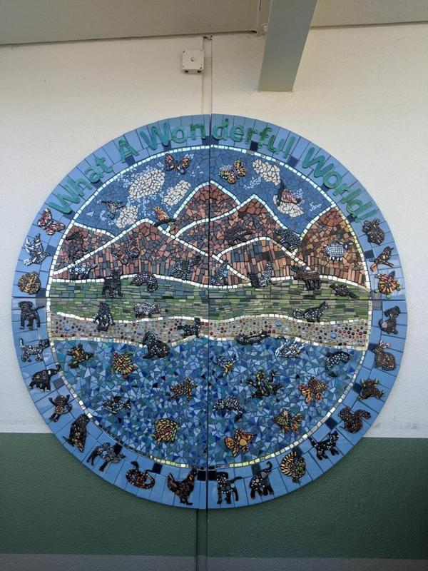 mosaic prepared by third grade students