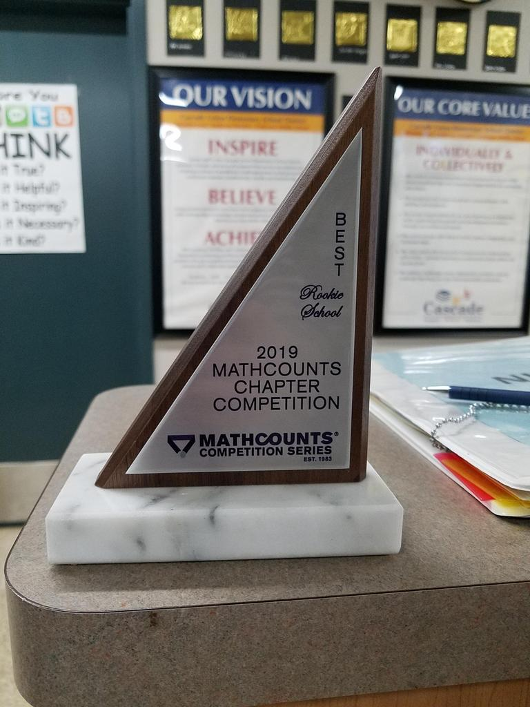 trophy for Math Counts