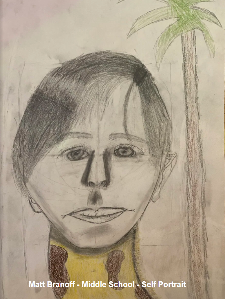 Matt Branoff - Middle School - Self Portrait