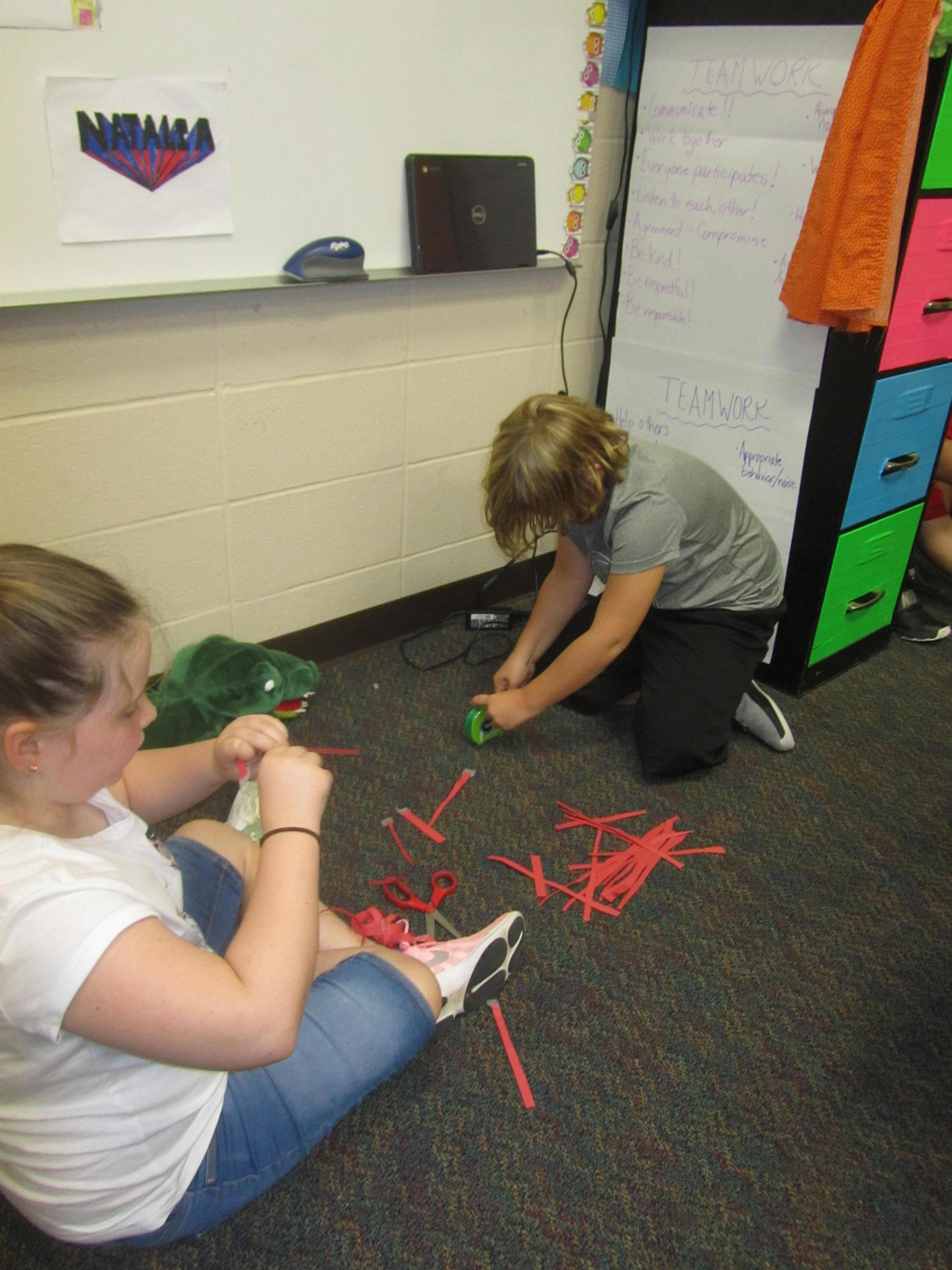STEM Challenge--Longest paper chain using only one piece of paper