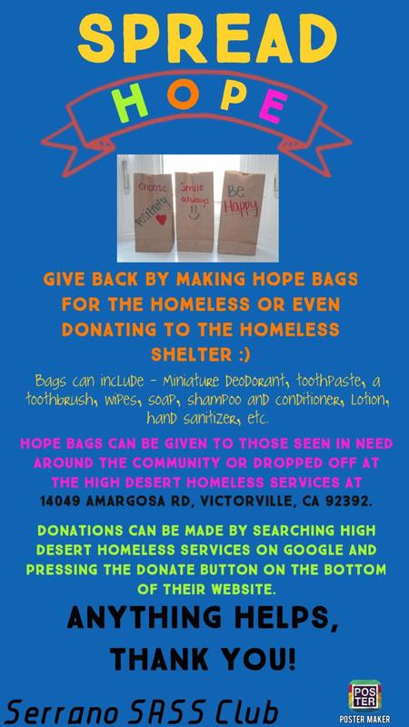Spread Hope - Donate Hope Bags to the Homeless Featured Photo