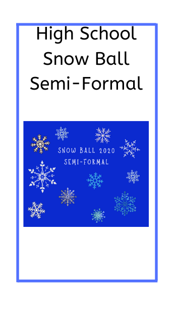 poster with snow flakes