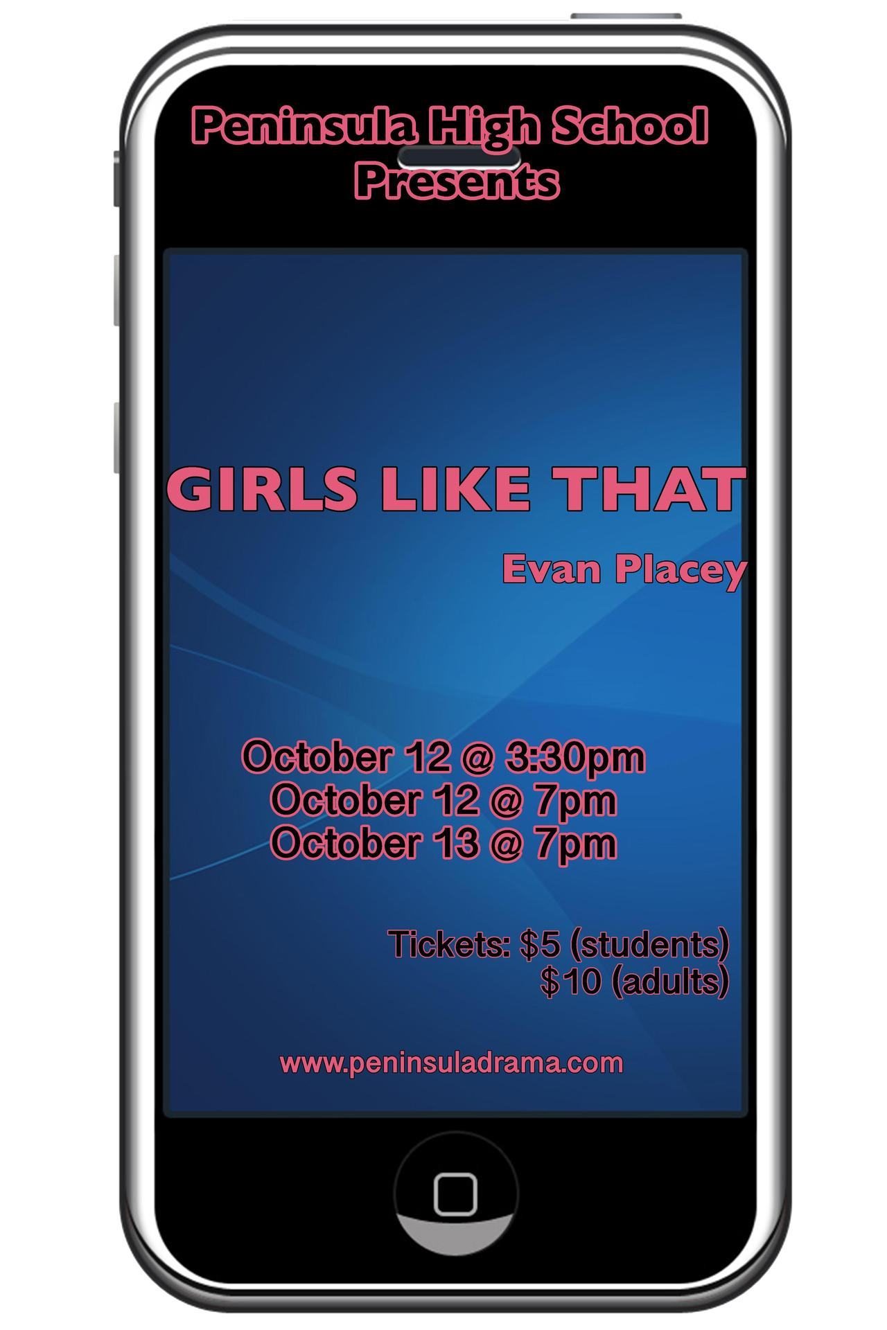 Girls Like That - Performing October 12 and 13 in the PAC