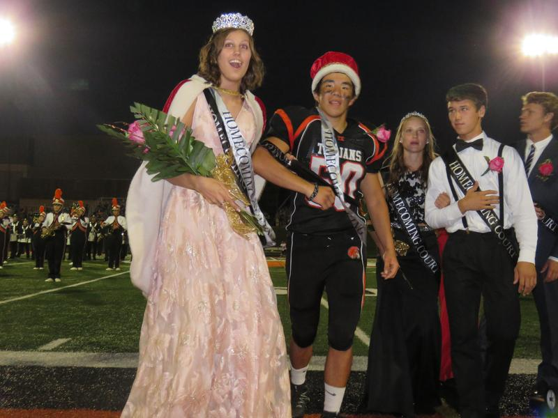 TKHS crows homecoming king and queen.
