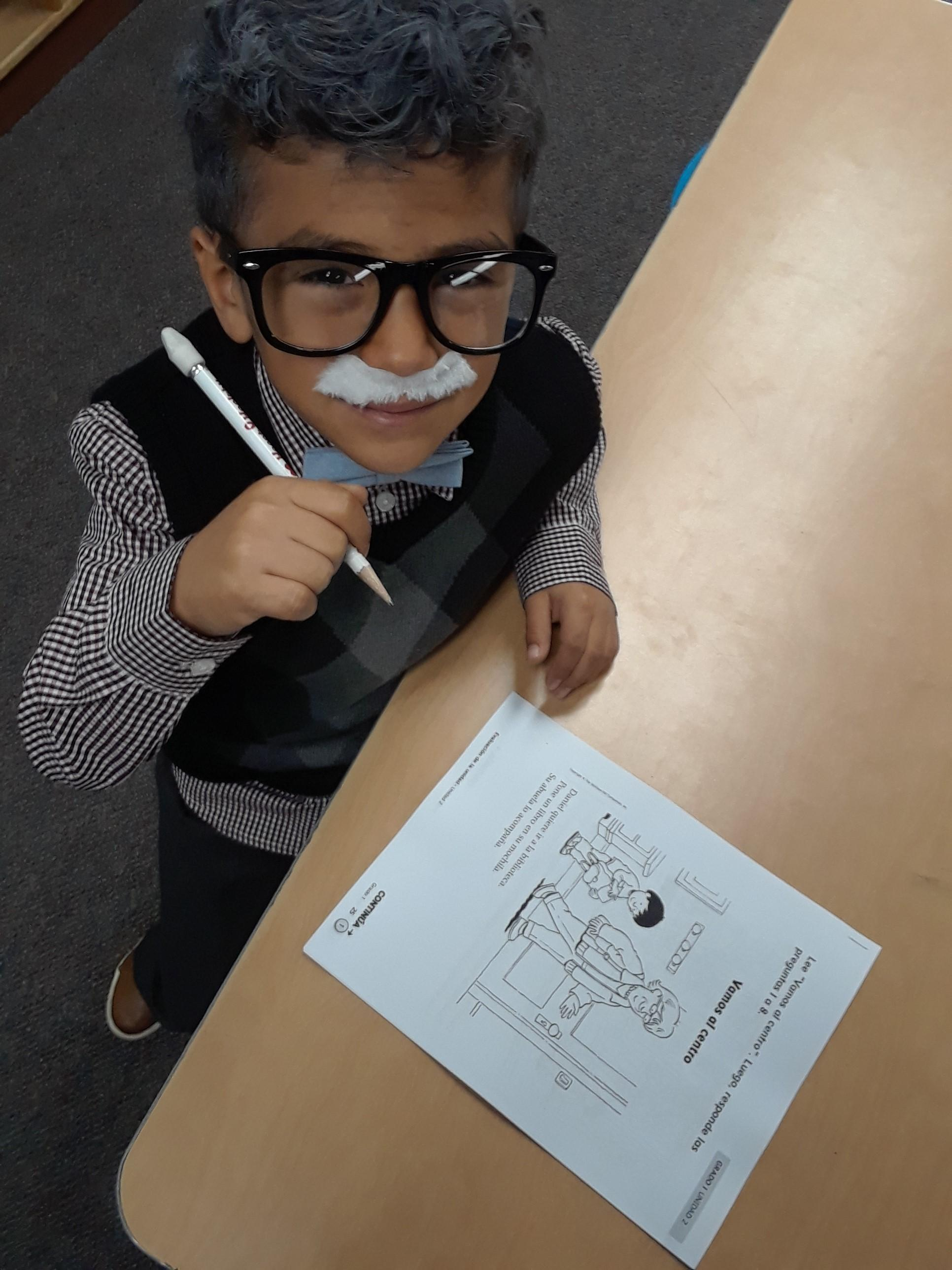 Student Working Dress as a Grandparent