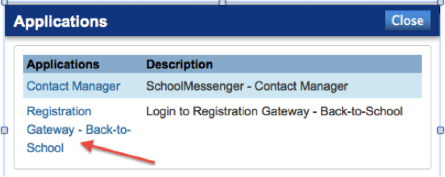image of link location in PowerSchool
