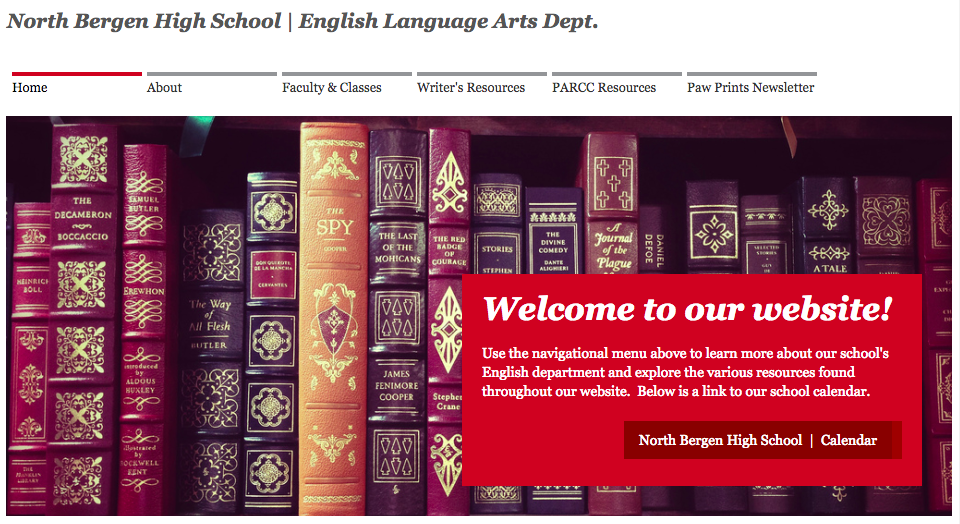 NBHS English Department website
