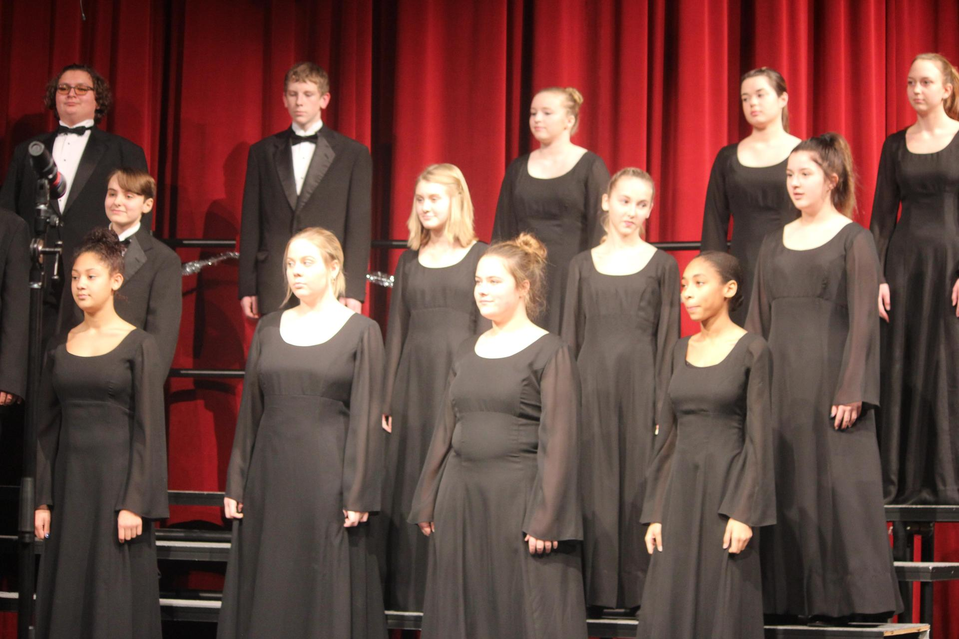 choir students at concert