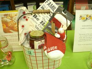 Basket of goodies for United Way drawing.