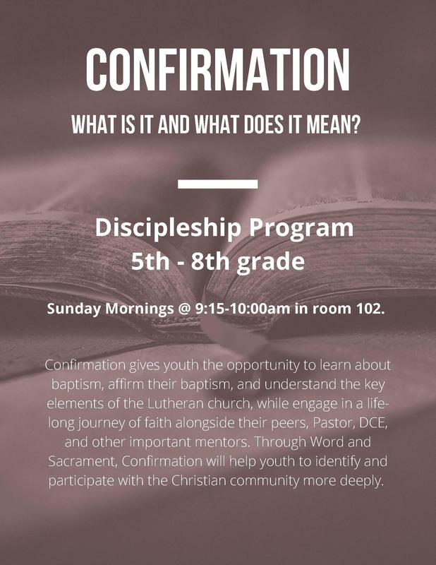 Confirmation Classes-  Parent and Student Meeting August 22 at 11:30 am Featured Photo