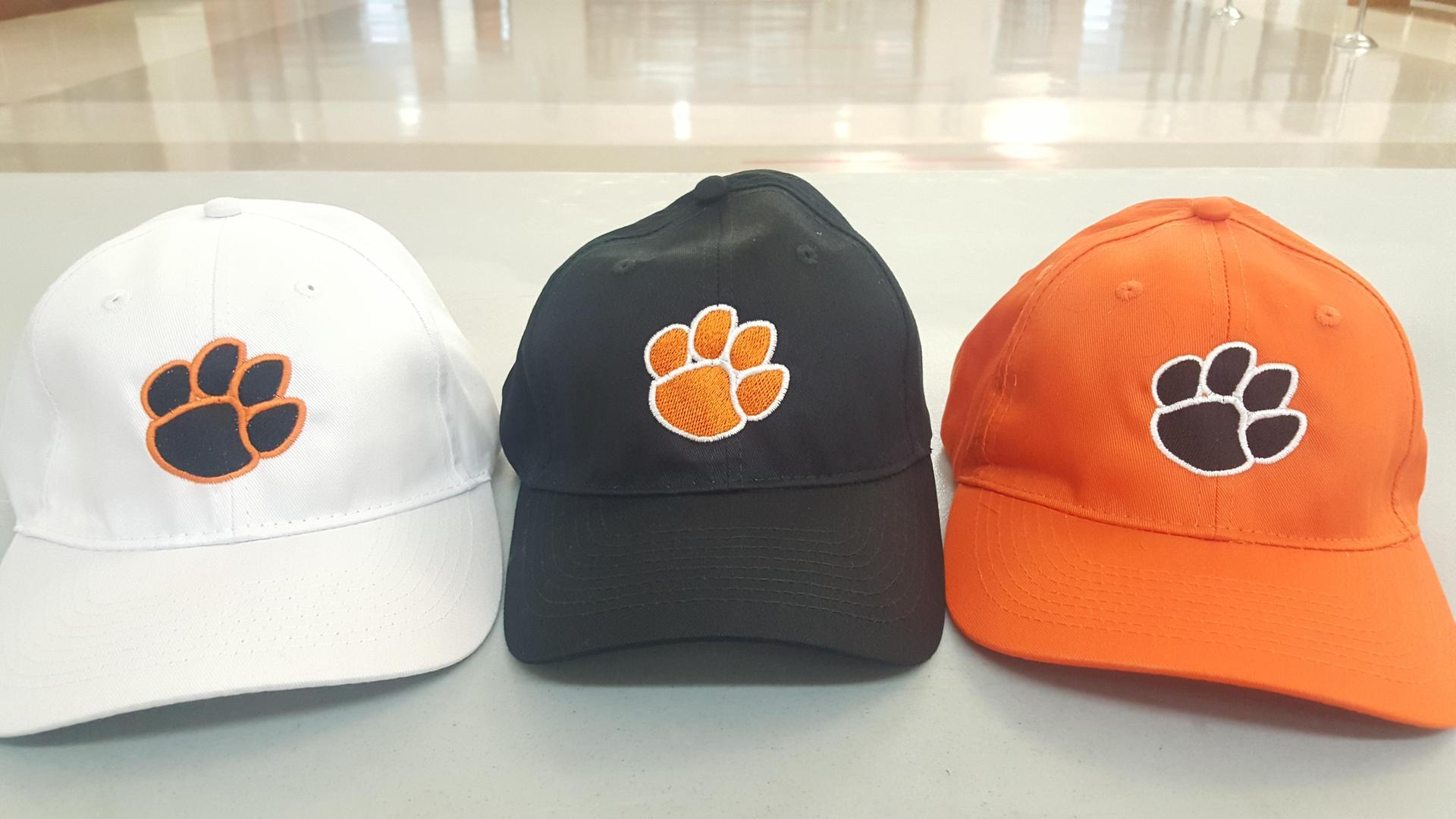Tiger paw cap Orange black white 15.00 One size