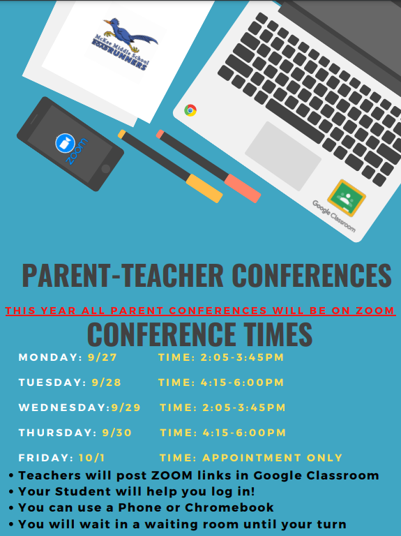 Parent Conferences this week!   Every day is a minimum day!  1:51pm release. CLICK HERE Thumbnail Image