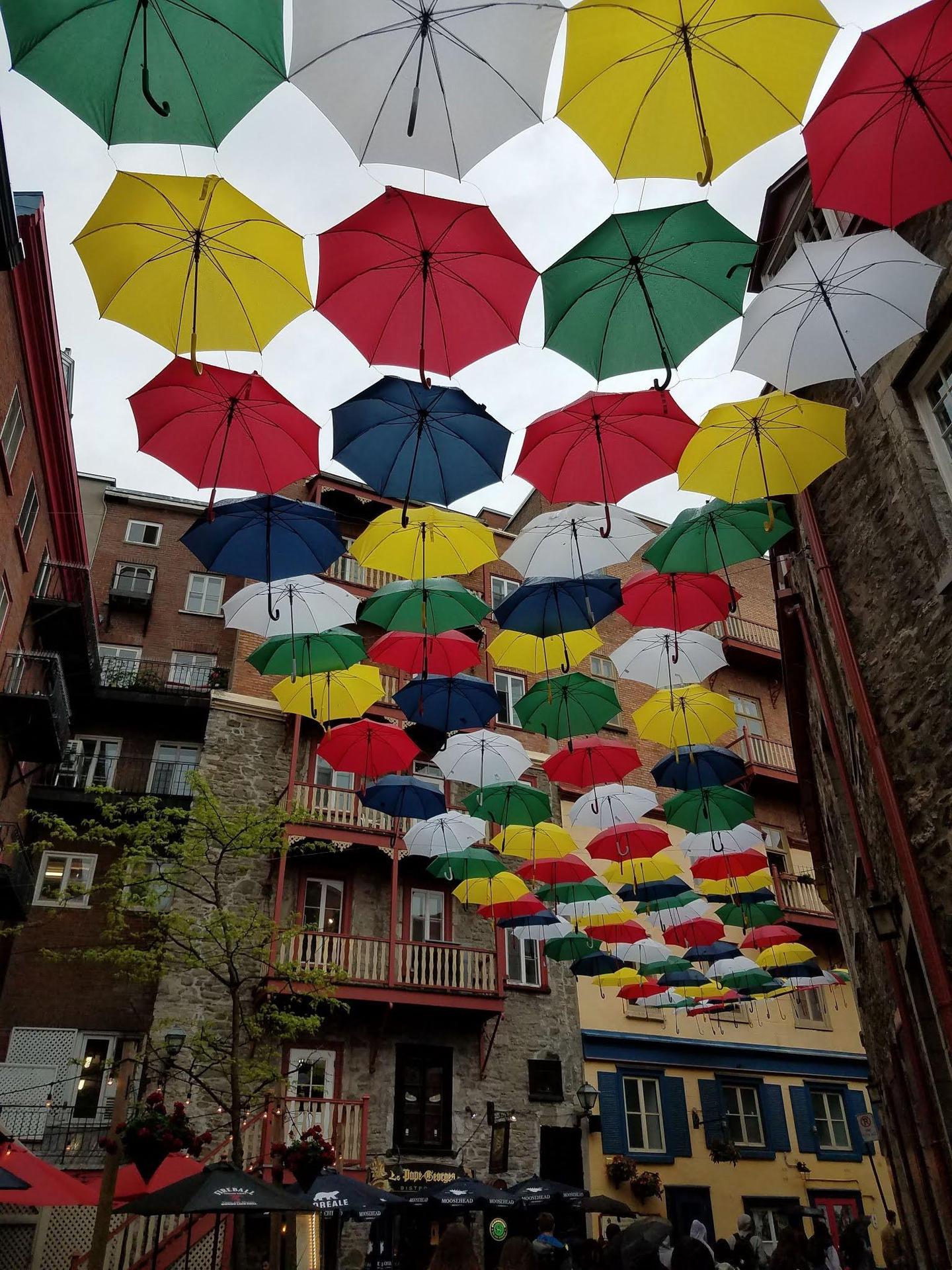 Quartier Champlain - parapluies