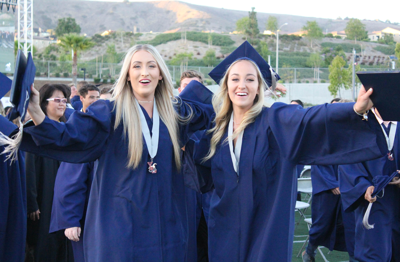 Graduates celebrating at YLHS.