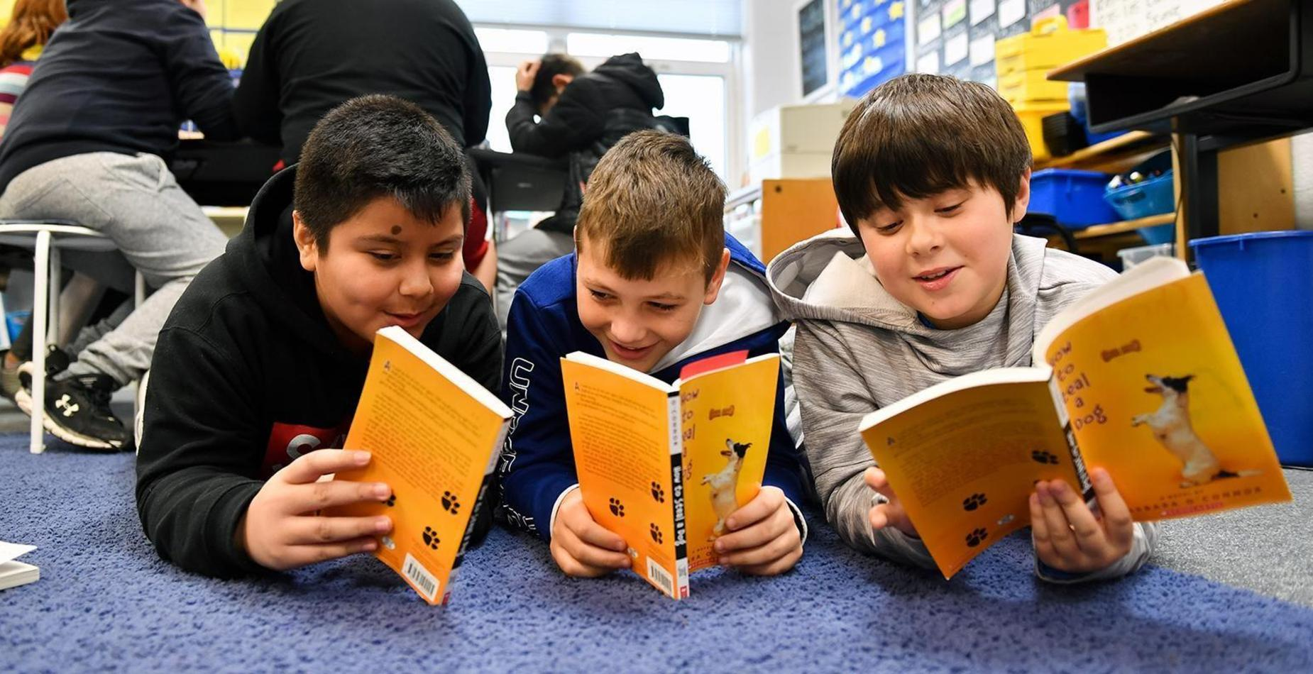photo of boys reading