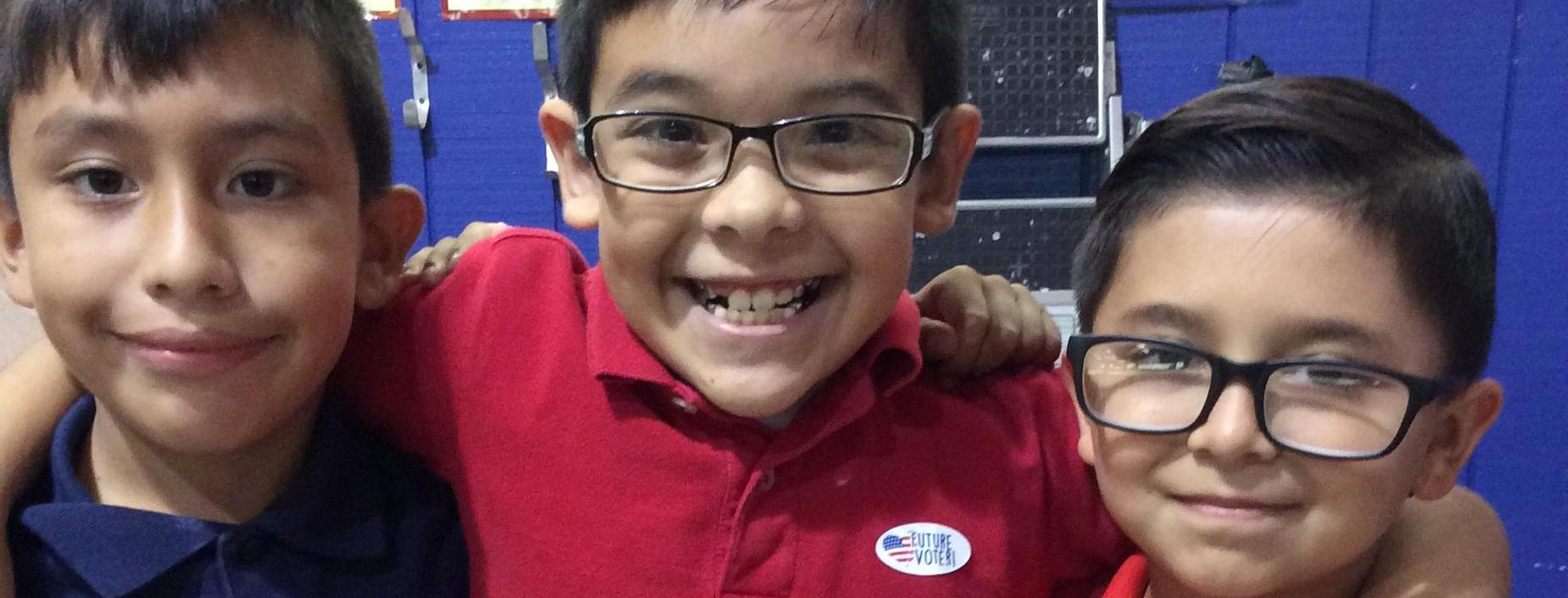3rd Grade students casting their vote