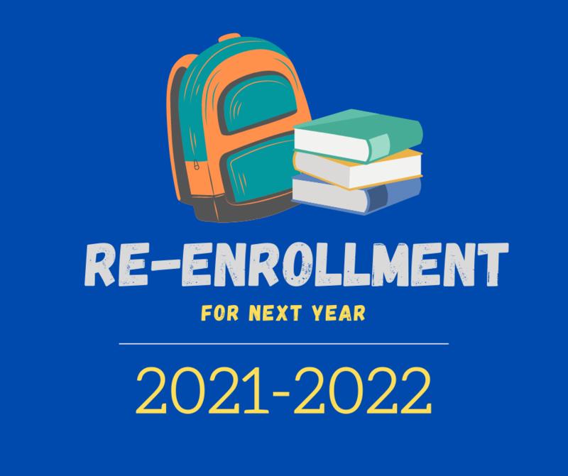 Re-Enrollment Application/Solicitud de reinscripción, 2021-2022 Featured Photo