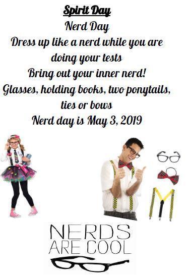 Spirit Day: Nerd Day! Friday, May 3rd! Thumbnail Image