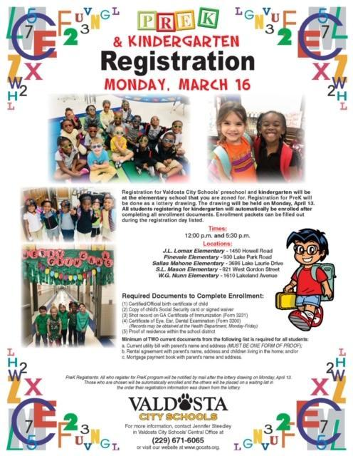 WGN PreK & Kindergarten Registration