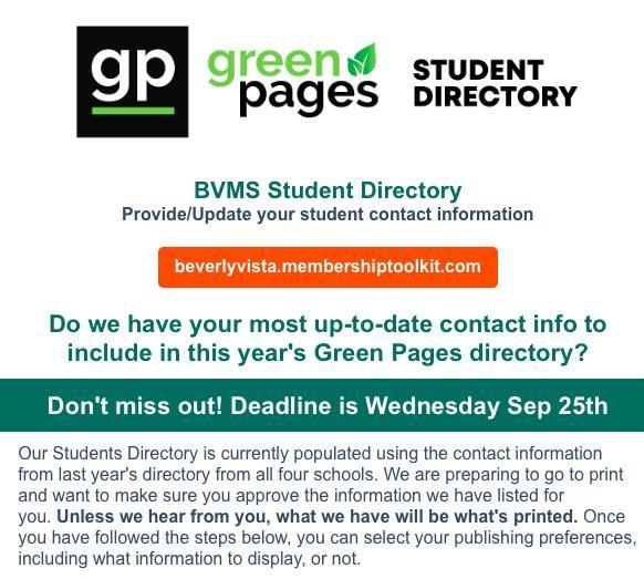 GreenPages Deadline
