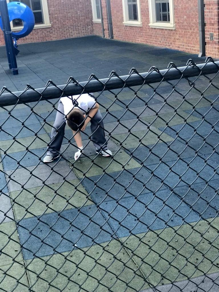 School Pride by cleaning playground