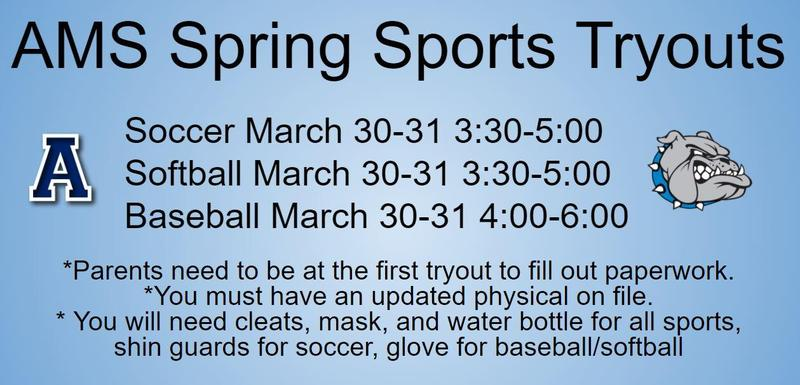 Spring Sports Tryouts! Featured Photo