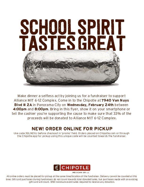 Join us for a fundraiser at Chipotle Thumbnail Image