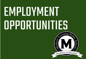 Employment Opportunities Graphic with Medford logo