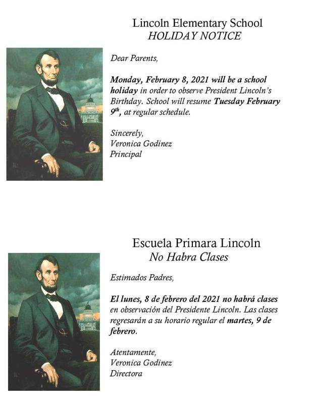 President Lincoln Holiday Observed